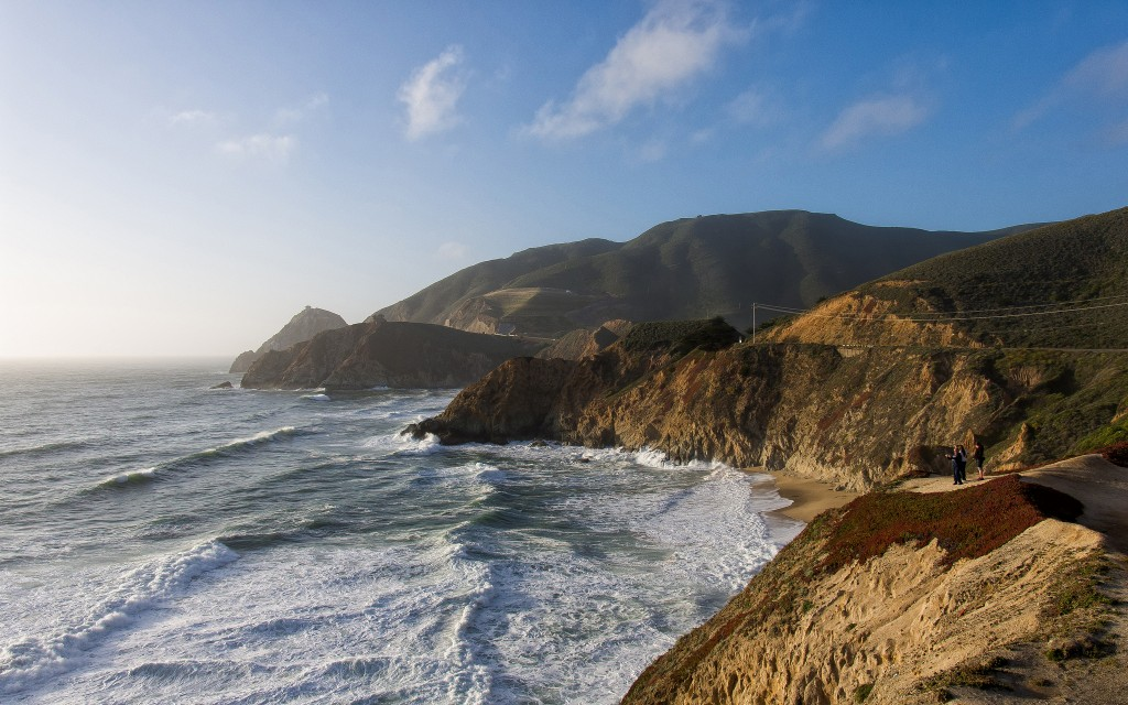 The Pacific coast of the USA, along the Highway 1