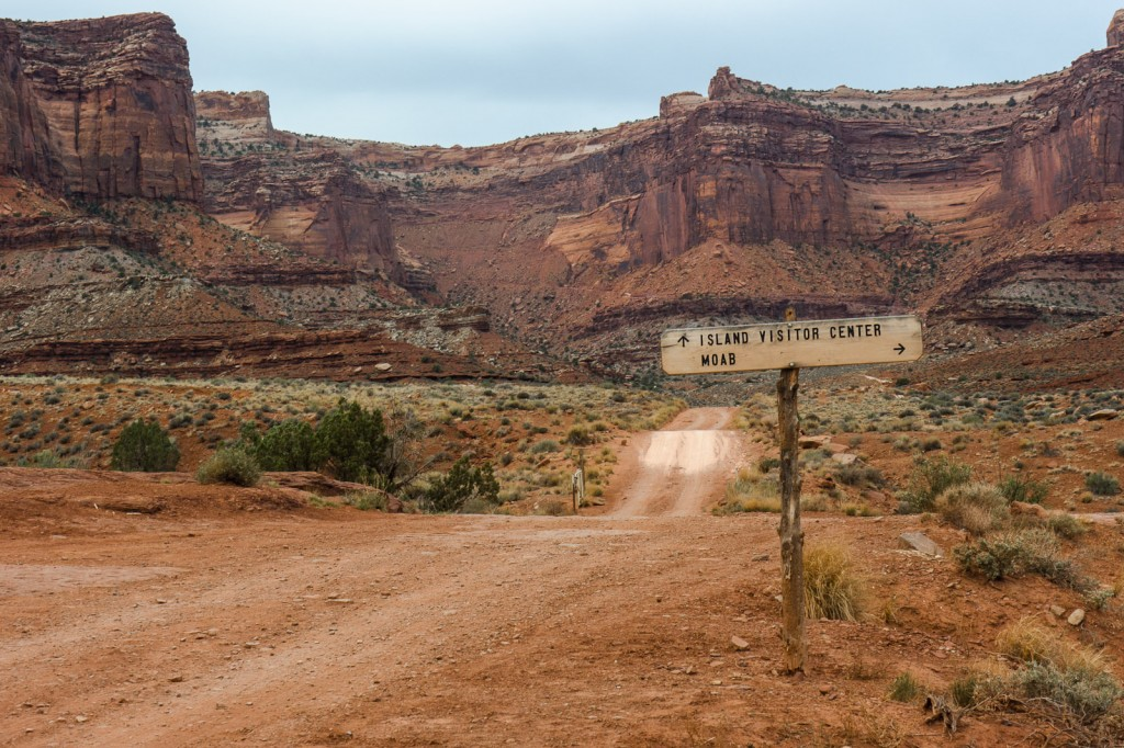 White Rim Road in Canyon National Park in the USA