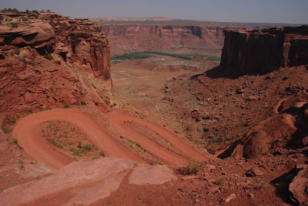 The west inland of the White Rim Road-CanyonLand National Park in the USA