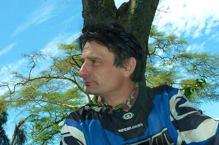 Fred, Planet Ride Specialist partner in Kenya for all-terrain motorcycle trips
