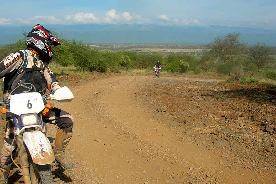 Nguruman Escarpment, on your motorcycle trip to Kenya with Fred and Planet Ride