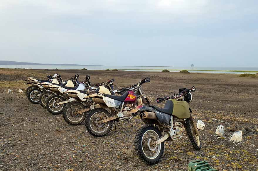 Turkana Lake, motorcycle raid in Kenya with Fred and Planet Ride