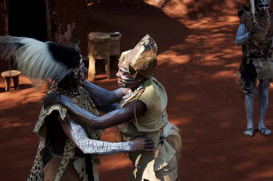 Kikuyu tribal Dance on your motorcycle trip to Kenya with Planet Ride and Fred