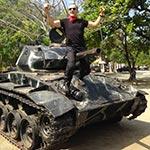 À Lingayen, lors de votre voyage aux Philippines à moto avec Planet Ride et Philippe