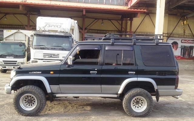 Votre Prado, lors de votre voyage en Mongolie en 4x4 avec Planet Ride et Chukao