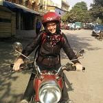 Ophélie - Népal - moto