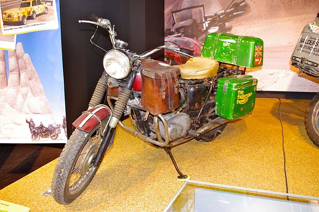 La moto Triumph 500cc Tiger 100 Jupiter de Ted Simon en 1973