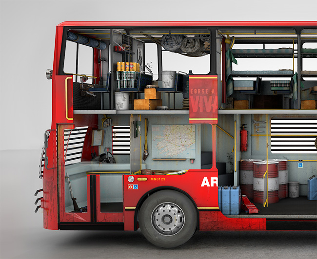 Le bus londonien anti-zombies