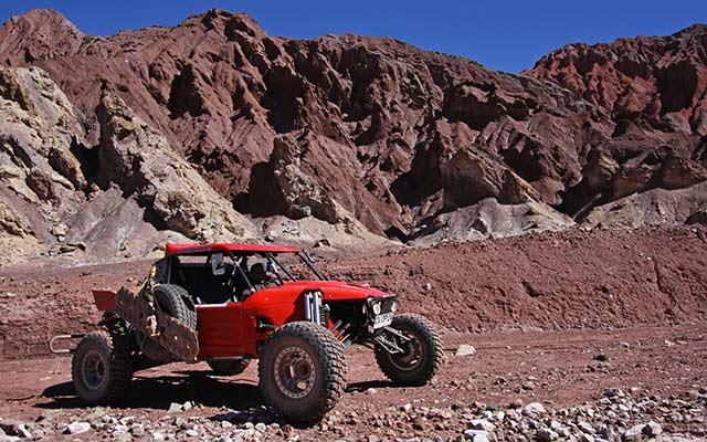 Votre buggy de compétition, lors de votre voyage au Chili et en Argentine avec Planet Ride et Jorge