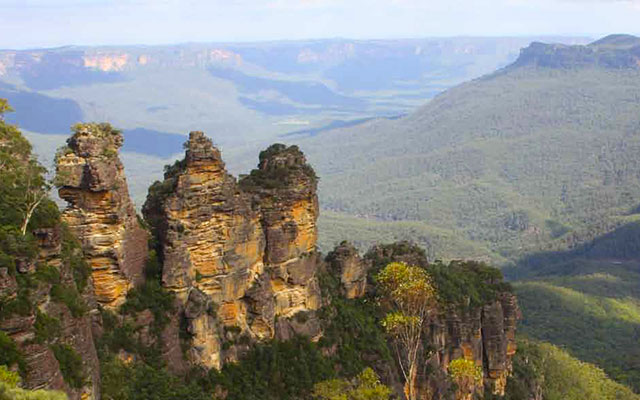 Vue sur les 3 Sisters, lors de votre voyage en Australie à moto avec Planet Ride