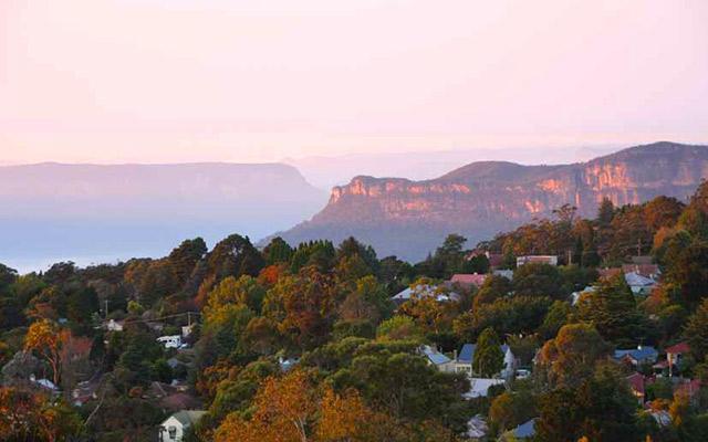Vue sur les Blues Mountains, lors de votre voyage en Australie à moto avec Planet Ride