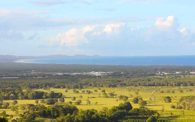 Vue sur Byron Bay, lors de votre voyage en Australie à moto avec Planet Ride