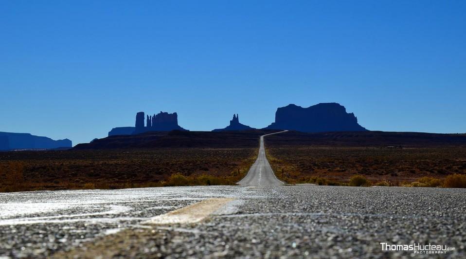 Sur la route de la Monument Valley lors du road-trip de Thomas aux Etats-Unis, en 2012