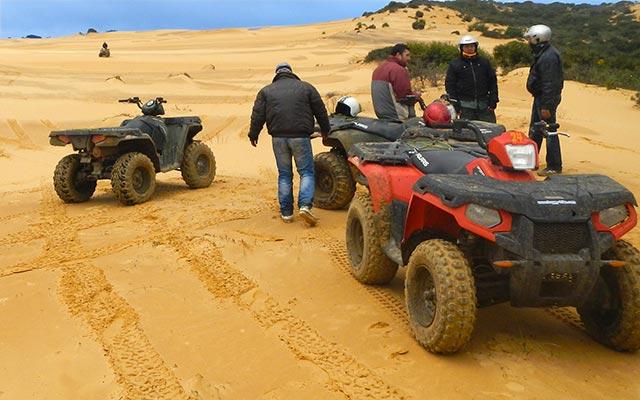 Votre quad Polaris Sportman, lors de votre week-end en Sicile avec Planet Ride et Angela