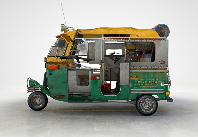 Tuk Tuk anti-zombies from New Delhi