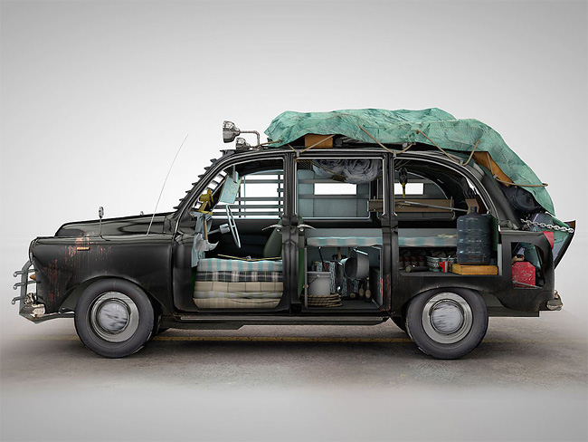 London Zombie-proof taxi