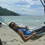 Plage de Puerto Galera, lors de votre voyage aux Philipines à moto avec Planet Ride et Philippe