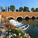 Pischiera del Garda, lors de votre voyage en Italie en Vespa avec Planet Ride et Roberta
