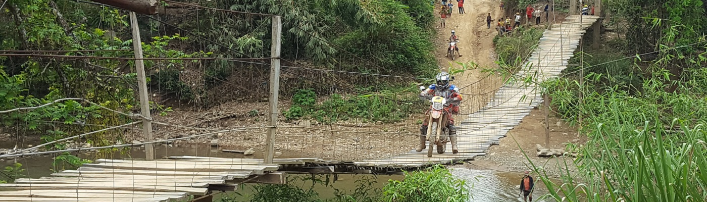 moto au Laos