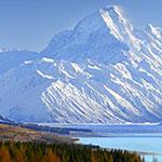 Vue sur le Mont Cook en camping car nz