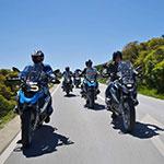 Sur la route, lors de votre voyage au Portugal à moto, avec Planet Ride et João