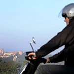 Dans les environs d'Orvieto, lors de votre voyage en Italie en Vespa avec Planet Ride et Roberta