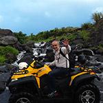 En quad, lors d'un voyage aux Philipines à moto avec Planet Ride et Philippe