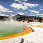 La région de Rotorua, lors de votre voyage en Nouvelle-Zélande en camping-car avec Planet Ride et Fabrice