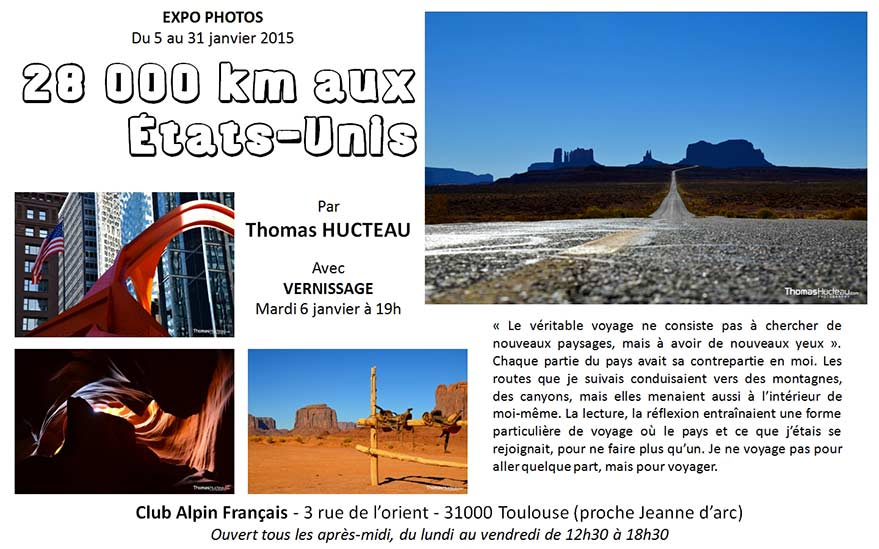 Thomas exhibits at the French Alpine Club in Toulouse from January 5 to 31, 2015
