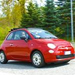 Sur la route, lors de votre voyage en Italien en Fiat 500 avec Planet Ride et Roberta