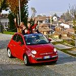 Dans un village, lors de votre voyage en Italien en Fiat 500 avec Planet Ride et Roberta