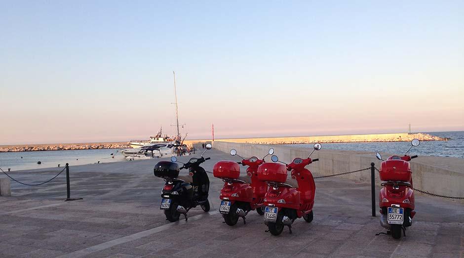 Voyage dans les pouilles en Italie en Vespa avec Planet Ride