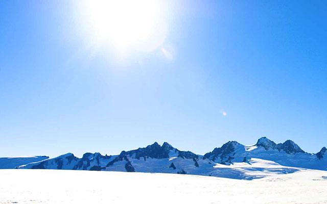 Glacier du parc de Westland, lors de votre voyage en nouvelle zelande en camping car