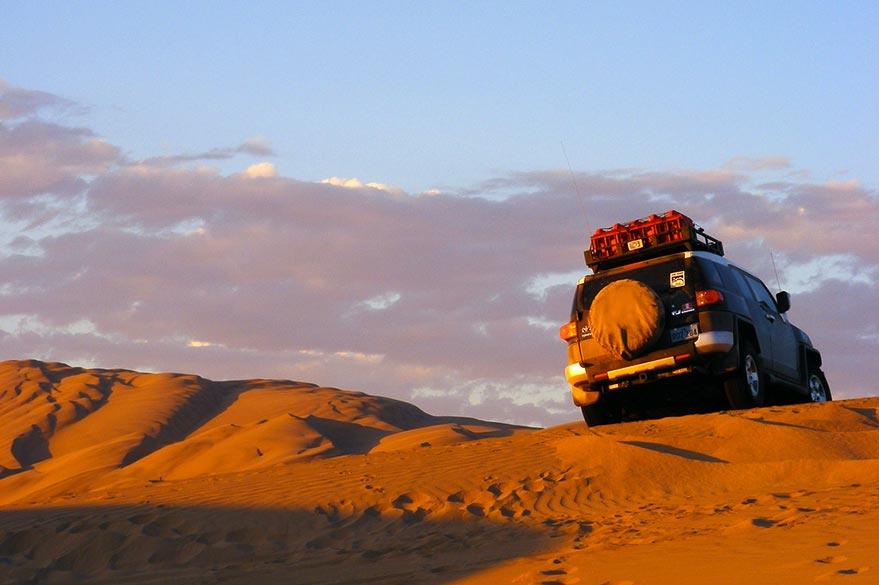 Dans le désert, en voyage 4x4 au Pérou avec Laurent et Planet Ride