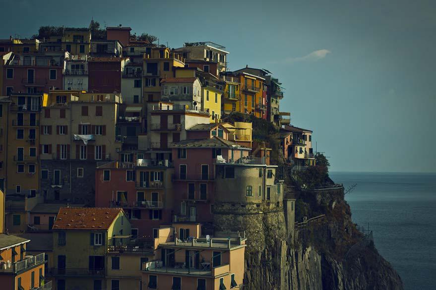 Village des Cinque Terre, sur la Côte Amalfitaine en Italie