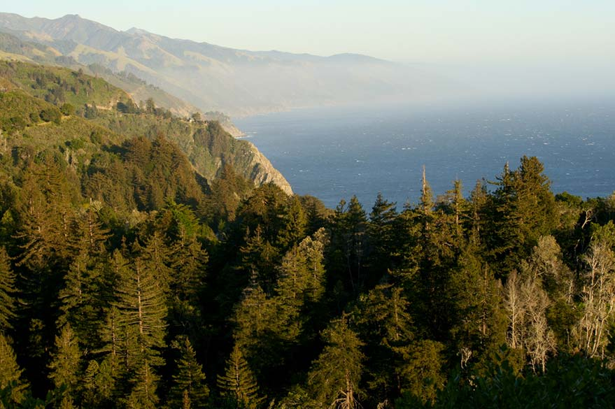 La côte Pacifique du Big Sur en Californie, le long de la Highway 1