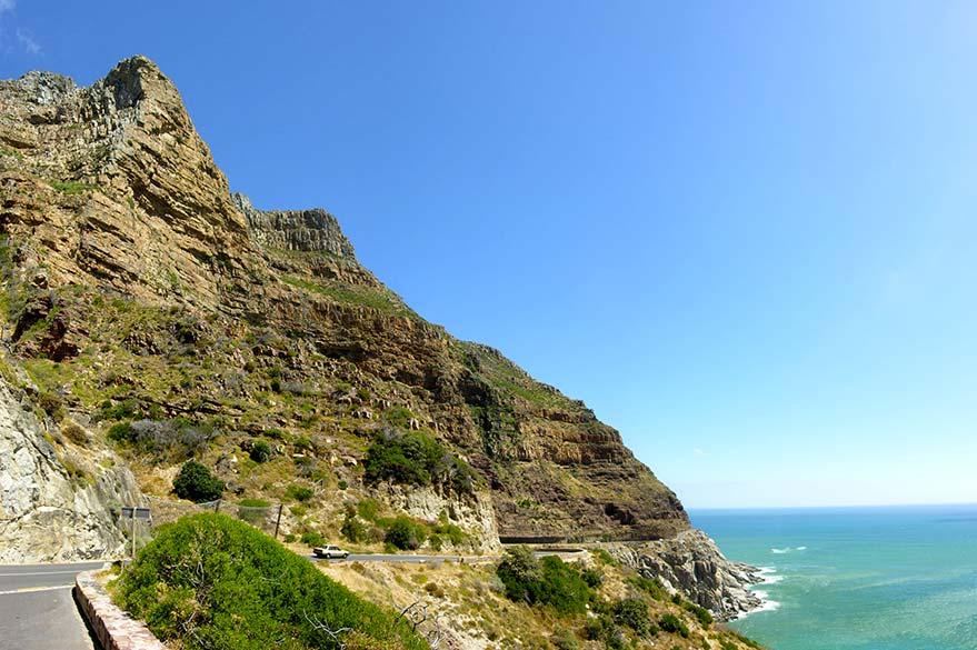 Le long de la Chapman's peak Drive, qui entoure le Pic de Chapman au Sud Ouest de Cape Town