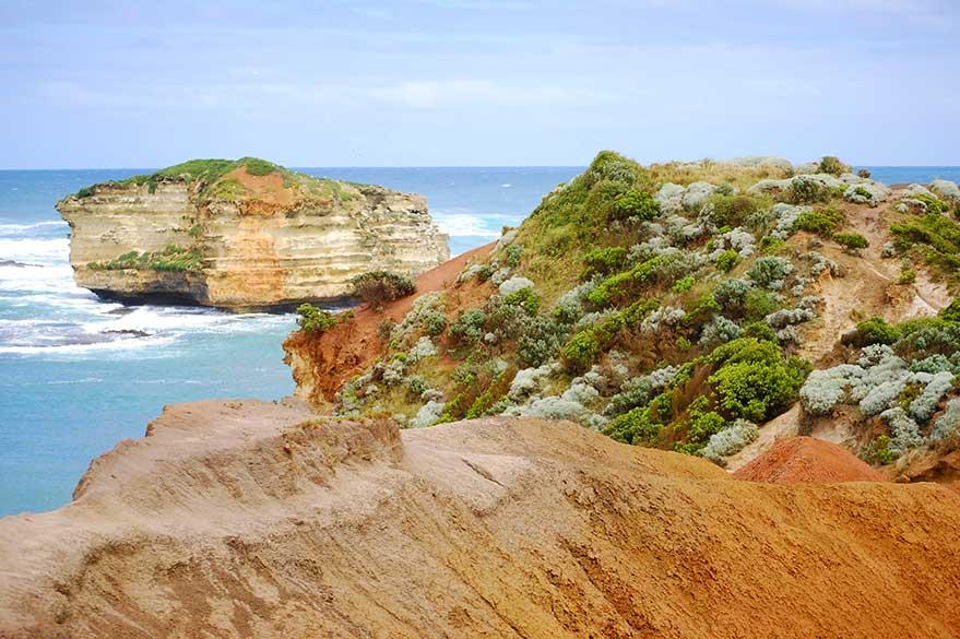 La côte sauvage le long de la Great Ocean Road dans le Victoria, en Australie