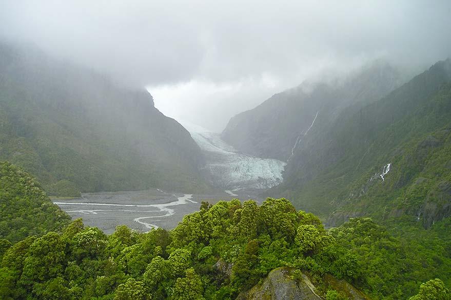 Glacier de Fox sur la West Coast de l'Île du Sud de Nouvelle-Zélande