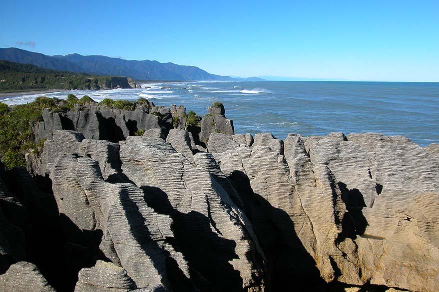 Les Pancake Rocks au alentours de Punakaiki sur la côte ouest.