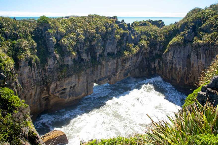 La côte sauvage aux alentours de Punakaiki sur la côte ouest.