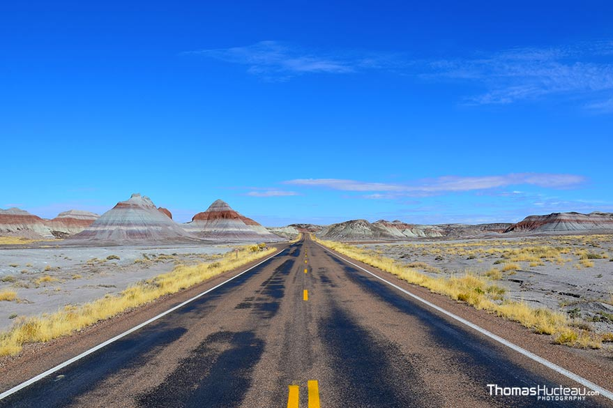 Road photography, during Thomas's road trip in the United States