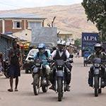 Arriv'ee a Tananarivo lors de votre voyagew ace Planet Ride en moto enduro