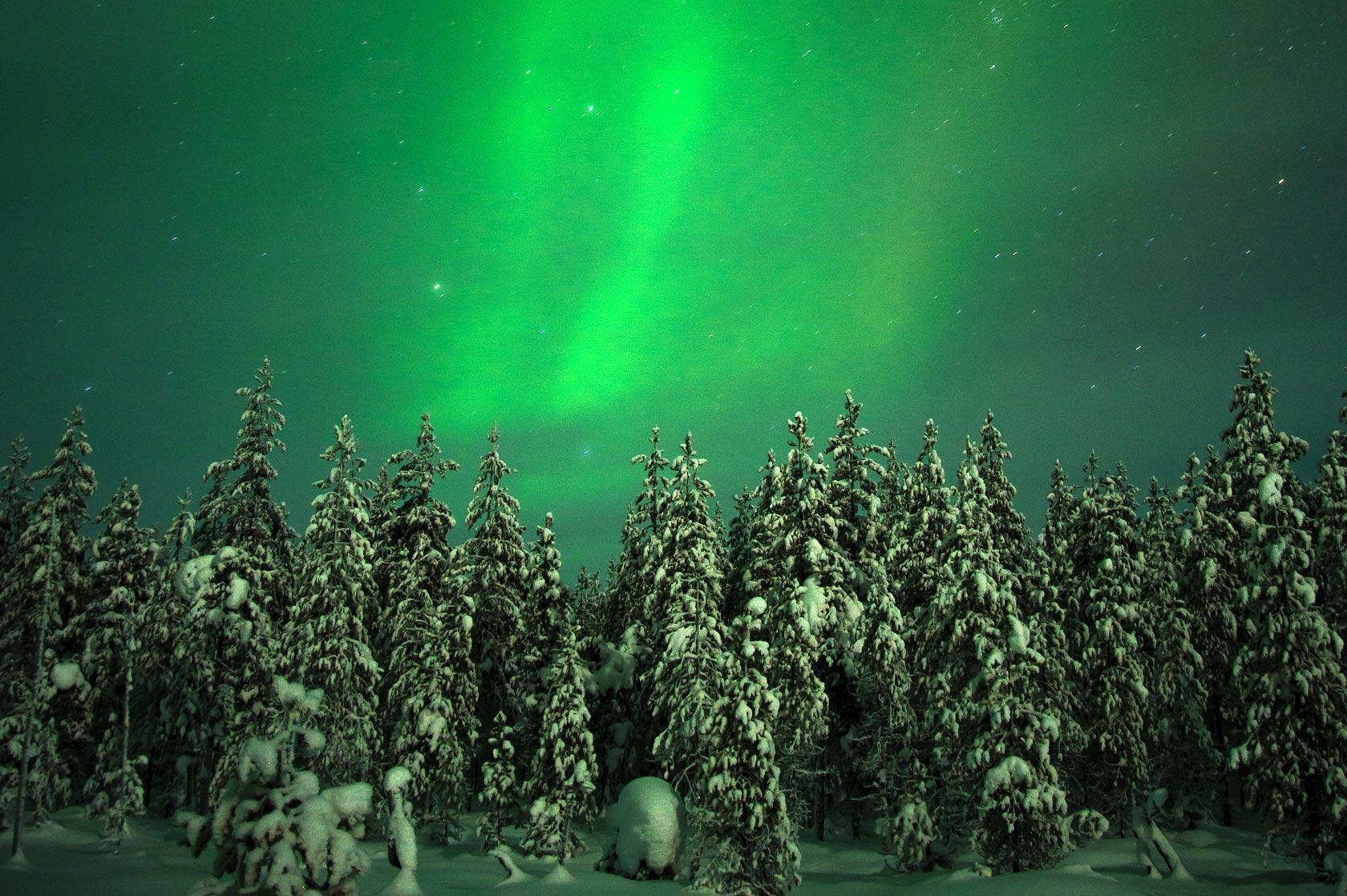 Aurores boeréales lors de votre voyage en Laponie avec Planet ride