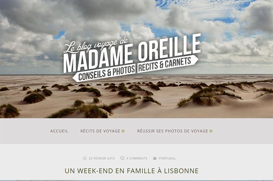 madame oreille  blog préféré de Planet Ride