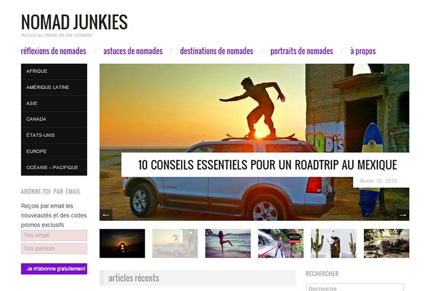 nomad junkie  blog préféré de Planet Ride