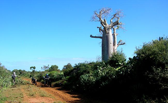 Les routes de Madagascar en moto enduro lors de votre voyage avec Planet Ride