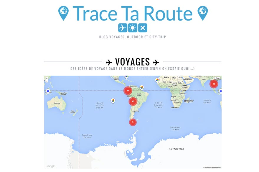 Planet ride loves the travel blog Trace your route