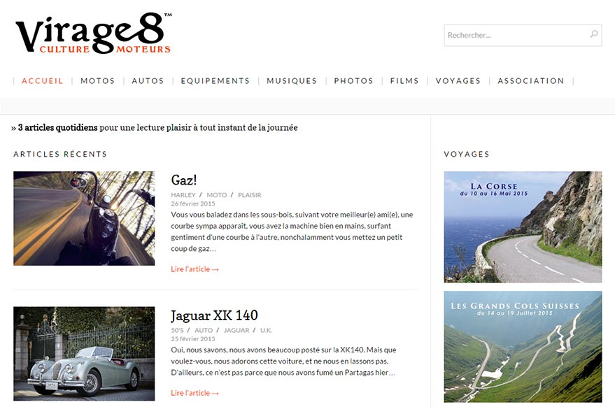 virage 8 blog préféré de Planet Ride