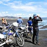 Lac Natron lors de votre voyage en moto avec Planet Ride